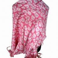 Buy cheap Cashmere-like Scarf, Customized Specifications are Accepted, Measures 67x178cm+10x2cm product
