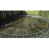 Buy cheap Rusty Multicolor Slate Floor Stone Circle with Black Slate Circle for Paving Stone from wholesalers