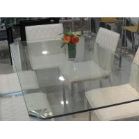 Buy cheap Rectangle Glass Top Table Desk , Thick Glass Table Transparent from wholesalers