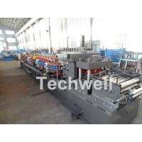 Carbon Steel CZ Channel Roll Forming Machine For Thickness 1.5-3.0mm With PLC Touch Screen Control Manufactures