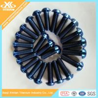 Buy cheap Blue Anodizing ISO7380 Titanium Hex Socket Button Head Screws from wholesalers