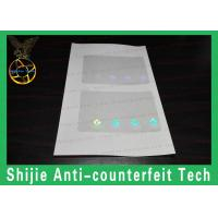 Buy cheap Adhesive reasonable price best quality transparent ID ( Fl NJ MD PA RI NC SC VA ) hologram overlay from wholesalers