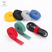 Buy cheap Anti Slip Nylon Reusable Cable Ties Injection Molded Back To Back Hook And Loop Tape Roll from wholesalers