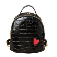 Wholesale Crocodile Grain Mini PU Backpack Lovely Personality And Small Backpack from china suppliers