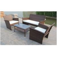 China Nice 4PCS All Weather Rattan Garden Furniture Outdoor Resin Wicker Sofa Set on sale