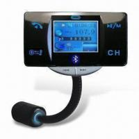 Buy cheap 1.8-inch LCD Car FM Transmitter with Caller ID Display, Supports MP4 Video and MP3/WMA Formats from wholesalers