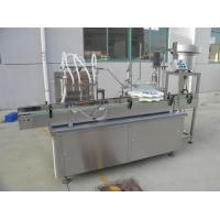 Rotary Type Liquid Filling Capping Machine For Plastic Bottle Touch Screen Operation Manufactures