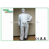 SMS Type 5 6 disposable coverall suit / Anti Virus disposable protective coverall Manufactures