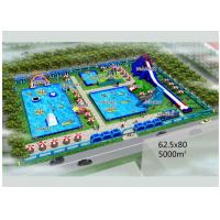 Buy cheap Puncture - Proof Inflatable Water Parks / Amusement Park Commercial Blow Up Water Slides from wholesalers