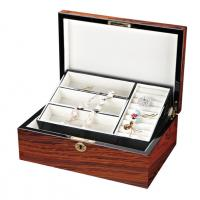 Buy cheap Foldable Wooden Jewelry Boxs with Foil stamp LOgo for Bracelets, Ring for women from wholesalers