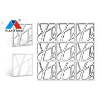 Buy cheap Sound Dampening Clip In Metal Ceiling Tiles Square Shape For Office Building from wholesalers