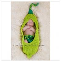 Wholesale green beanie costume set handmade cotton baby Photography Prop Crochet Hats diaper cover from china suppliers