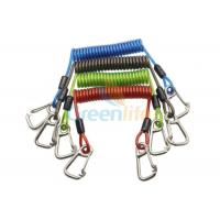 Wholesale Heavy Weight Plastic Coil Lanyard , Coiled Tool Lanyard With Double 316 Stainless Steel Clips from china suppliers