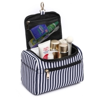 Buy cheap Portable Vintage Stripe Cotton Canvas Cosmetic Travel Case from wholesalers