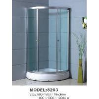 Buy cheap Ideal Simple Shower Cubicle with Short Tray & Clear Toughened Glass (1000*1000*1950mm) from wholesalers
