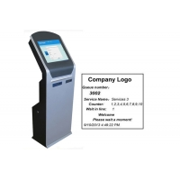 Buy cheap Electronic Queue Management System Ticket Dispenser Kiosk with Dual Thermal Printer from wholesalers