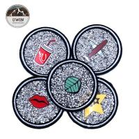 Buy cheap Round Embroidered Applique Patches , Beautiful Custom Brand Patches from wholesalers