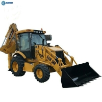 Buy cheap Weight 8200KG 74kW Engine SAM388 Backhoe Loader Machine With 4 In 1 Bucket from wholesalers