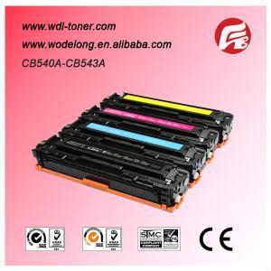 China compatible CB540A CB541A CB542A CB543A color laser toner cartridge for hp laserjet 1215 on sale