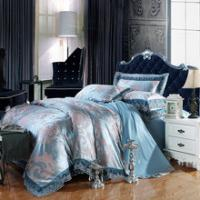 Buy cheap bedding set 100%cotton Jacquard tribute silk tencel satin duvet cover bedsheet pillowcase brand bed cover quilt cover be from wholesalers