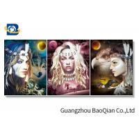 Buy cheap Custom Lenticular 3d Flip Picture Of Pretty Girl And Animal For Home Decoration from wholesalers