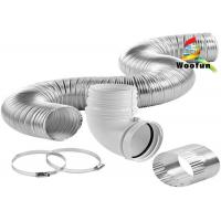 Buy cheap Smooth Aluminium High Temperature Flexible Duct Semi Rigid Easy Installation from wholesalers