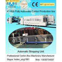 Buy cheap Corrugated Box Manufacturing Machine With Carton Box Flexo Printer Synchronized from wholesalers