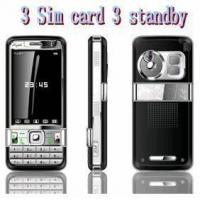 Buy cheap GC668+ 3sim 3 Standby TV Cell Phone from wholesalers