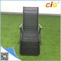 Aluminum lightweight folding sling chaise lounger /  comfortable recliner chair popular sun bed Manufactures