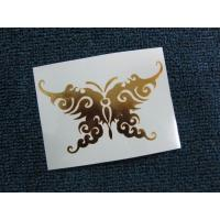 China Butterfly Gold Foil Promotional Temporary Body Art Tattoo on sale