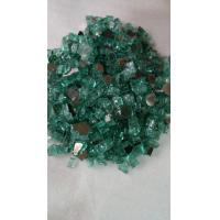 Buy cheap Bronze mirror reflective fire pit glass chips for fire place decoration from wholesalers