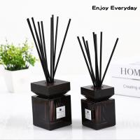 Wholesale Square Home Reed Diffuser Wooden Bottle Cap Pure Natural Fragrance Reed Diffuser from china suppliers