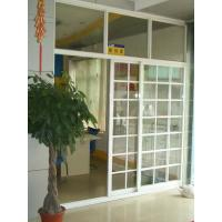 Buy cheap 1.4mm profile thickness white, balck gray aluminum sliding glass doors with fly screen from wholesalers