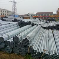 Buy cheap Diameter 12 - 508mm Pre - Galvanized Steel Pipe / Round GI Pipe ASTM A53 Hot Dipped Steel Pipe from wholesalers