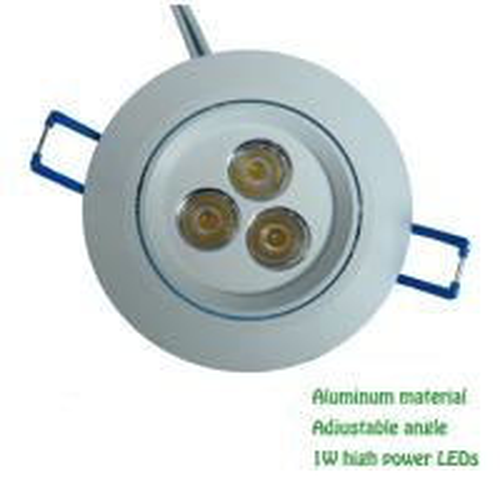 3W LED ceiling lights aluminum material