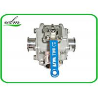 Buy cheap Sanitary Full Bore Ball Valve Clamp / Thread / Weld / Flange 3 Way , Non Retention from wholesalers