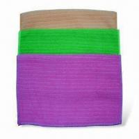 Buy cheap Microfiber Warp Knitted Cleaning Cloths with Stripped Needle Out from wholesalers