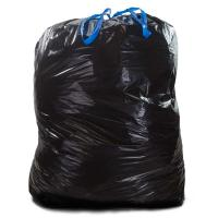 Buy cheap Tie Off Plastic Drawstring Garbage Bags HDPE Material Black Colour For Construction from wholesalers