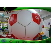 Buy cheap Inflatable Advertising Balloons / Giant PVC Inflatable Water Toys , Dia 1.2m Inflatable Footballl Shape Beach Ball from wholesalers