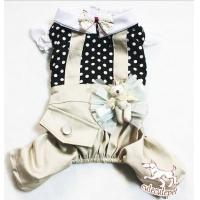 Buy cheap Newest dog T-shirt, dog clothes, cotton and khaki color from wholesalers