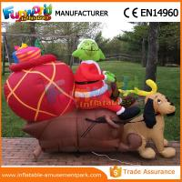 China Giant Waterproof Custom Inflatables Christmas Replica Inflatable Grinch With Repair Kits on sale