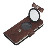 Buy cheap Manufacturer Special Bow Wood cover for Apple Iphone 7 leather case with Makeup mirror from wholesalers