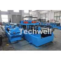 1.5-3.0mm Forming Thickness , Quick Interchangeable CZ Purlin Roll Forming Machine With 7 Rollers Leveling Device Manufactures