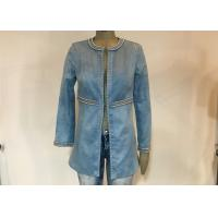 Buy cheap Casual Style Ladies Suede Jackets , Studs Decorated Ladies Pu Leather Jackets from wholesalers