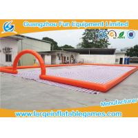 Buy cheap Big Airtighted Inflatable Soccer Field , Outdoor Large Inflatable Games from wholesalers
