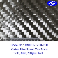 Wholesale Twill Weave 12K Toray Spread Tow Carbon Fiber Fabric from china suppliers