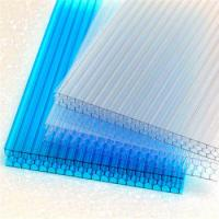 Blue Green White Polycarbonate Awning Panels Opal Brown PC Plastic Hollow Sheet