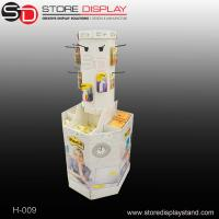 Buy cheap round hook display stand with compartments base display bin from wholesalers