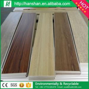 PVC  floor interlocking wood flooring reinforcement tile from hanshan floor factory Manufactures