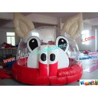 Buy cheap Outdoor Commercial grade 0.55mm (1000D, 18 OZ) PVC Tarpaulin Jumping Castles for product